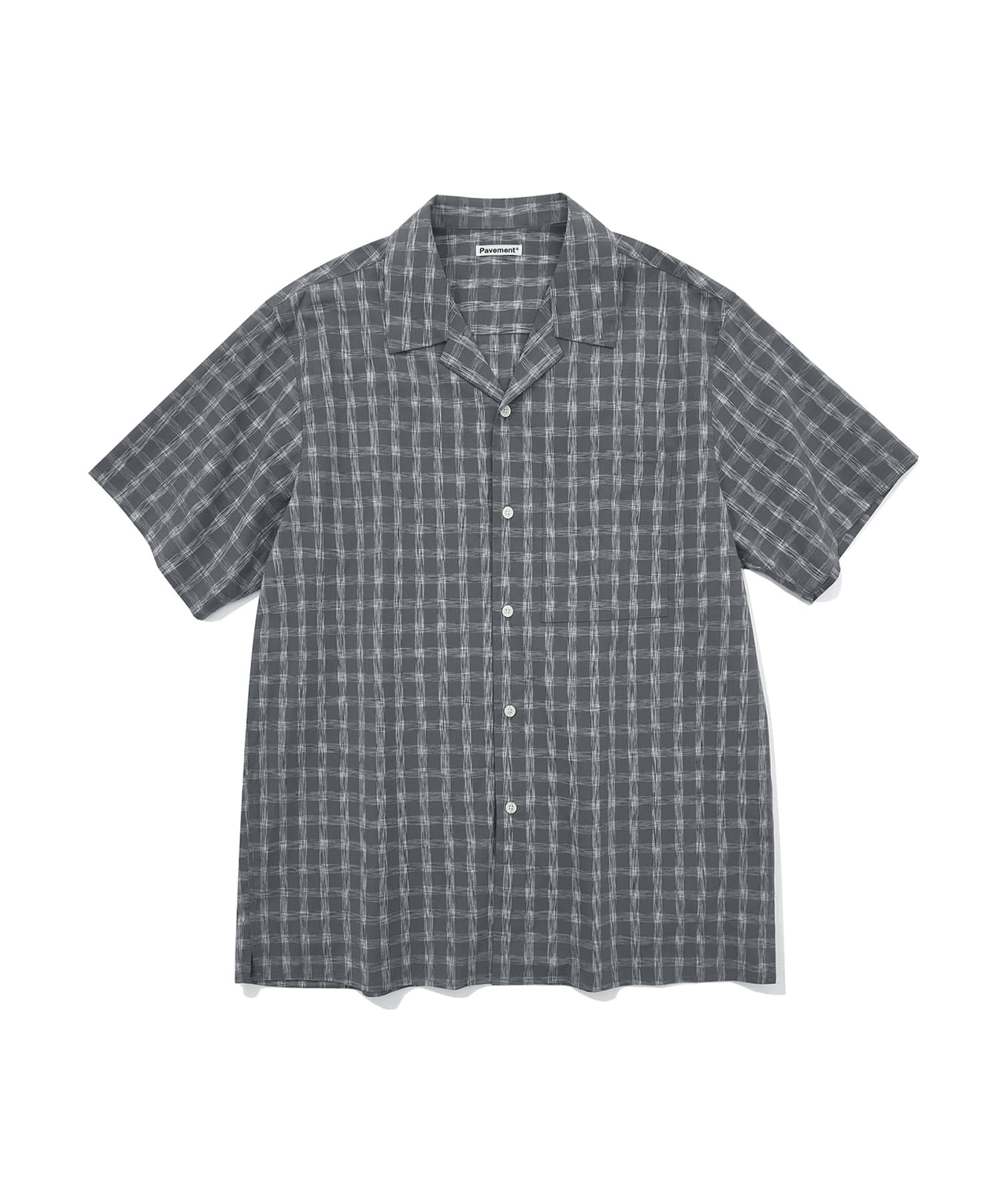 CHECK S/S SHIRTS JH [GRAY]