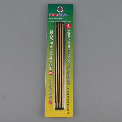 09947   Brass Pipe Set 6 (1.5mm, 2.0mm, 2.5mm, 3.0mm)
