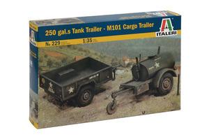 0229 1/35 250 gal.s Tank Trailer - M101 Cargo Trailer 유류트레일러와 카고트레일러