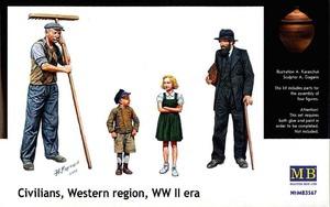 MB3567 1/35 Civilians Western region WWII