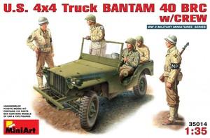 35014 1/35 US 4x4 Jeep Bantam 40 BRC w/Crew