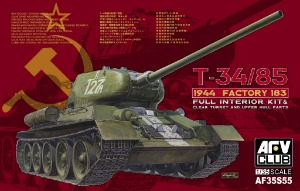 AF35S55   1/35 T-34/85 Model 1944 Factory No.183 with Clear Turret and Upper Hull Part(Full Interior Kit)