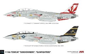 KP72003A 1/72 F-14A Tomcat 'Sundowners', 'Gunfighters'