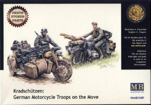 MB3548F 1/35 Kradschutzen - German Motorcycle Troops on the move