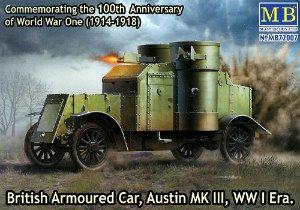 MB72007  1/72 British Armoured Car Austin Mk.III WWI Era