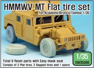 DW35086 HMMWV MT Flat tire set (for Academy/Bronco/Tamiya 1/35)