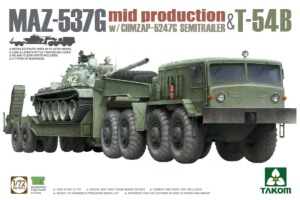 5013  1/72 MAZ-537G Mid Production with CHMZAP-5247G Semitrailer+T-54B