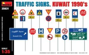 35631  1/35 Traffic Signs Kuwait 1990's
