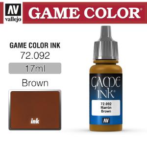 Vallejo _ 72092 Game Color _ Ink _ Brown