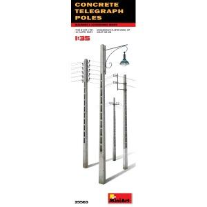 35563  1/35 Concrete Telegraph Poles