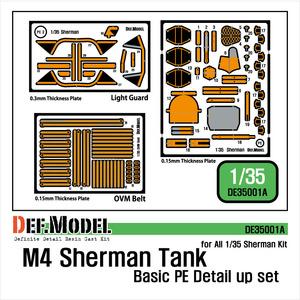 DE35001A  1/35 Sherman Basic PE set