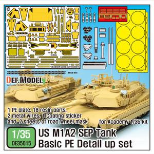 DE35015 1/35 US M1A2 SEP Basic PE Detail up set for Academy