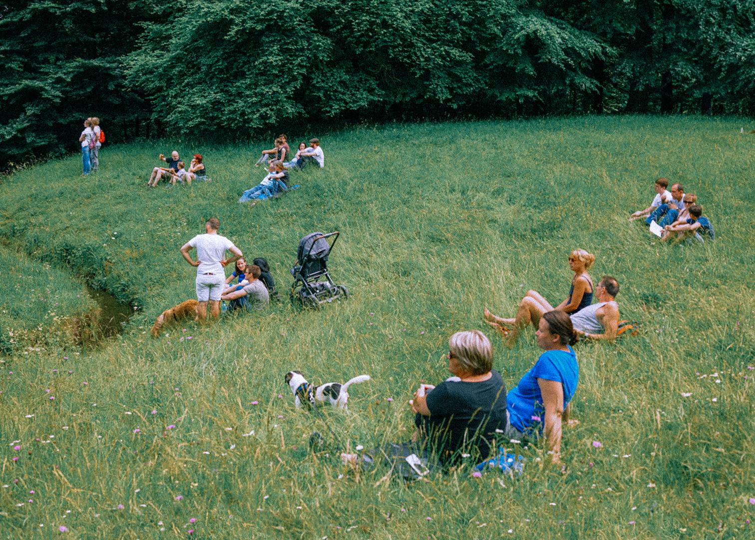 풀밭에서의 휴식