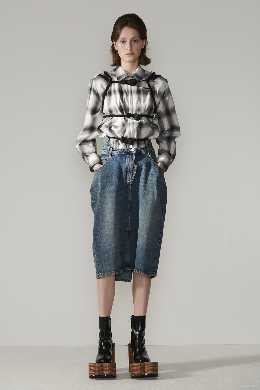 SS21 KNOTTED POINT CHECK JUMPER
