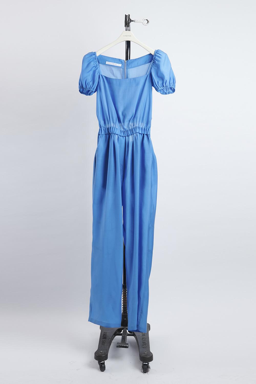 HS21 BLUE BACK SLIT PANTS-DRESS