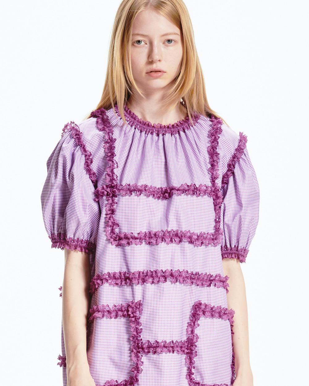 PF20 LACE TRIMMED DRESS