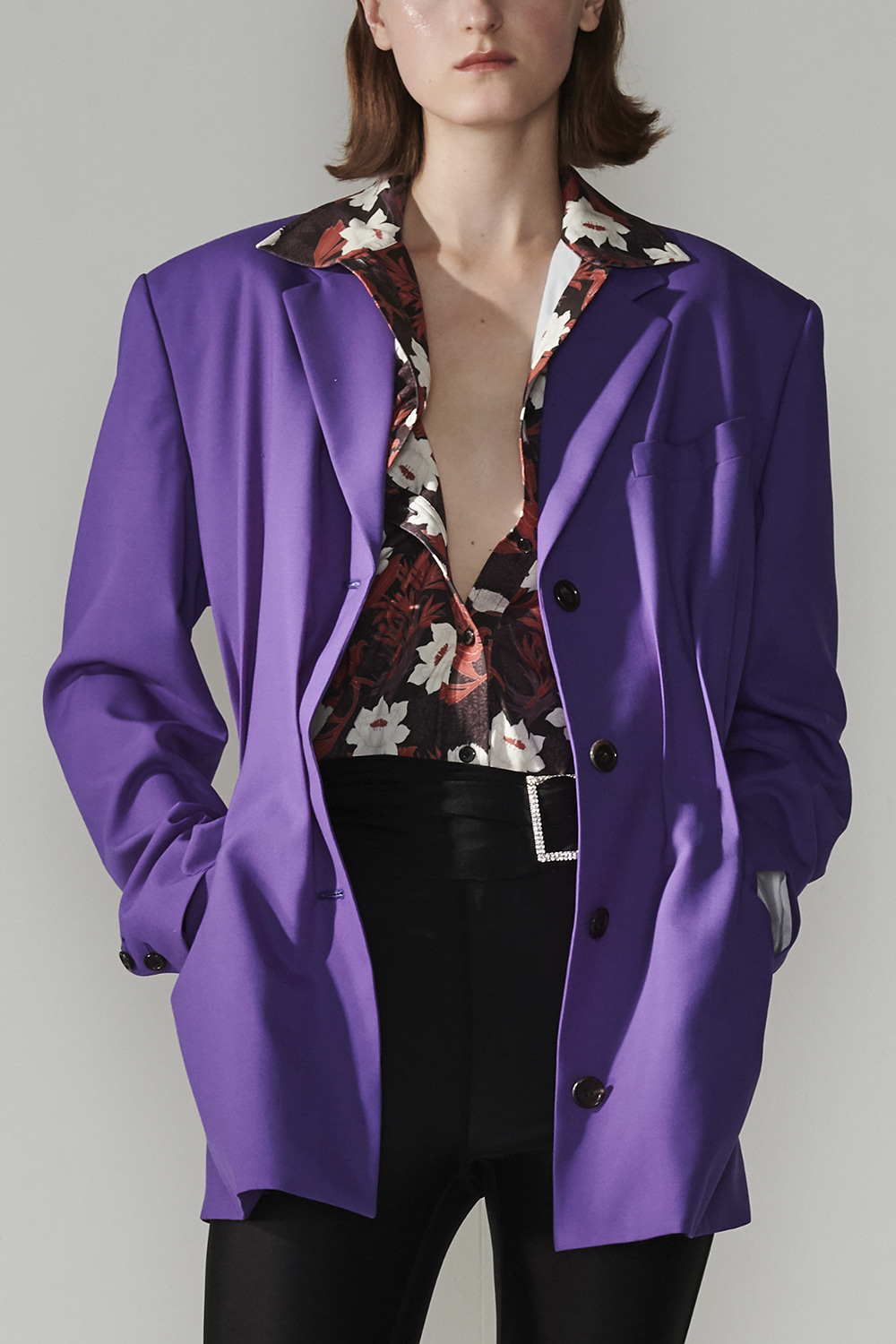 SS21 THE POINT VIOLET JACKET