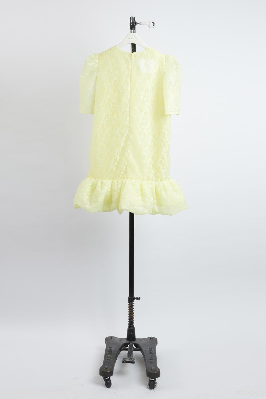 HS21 YELLOW PUFF BOTTOM SHORT DRESS