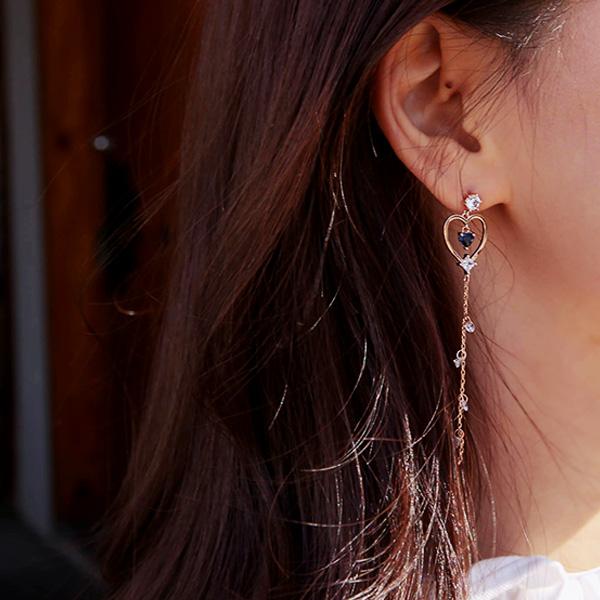하트트윙클 귀걸이