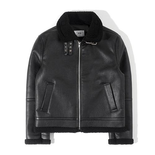 HT B-3 Mouton Jacket (Black)