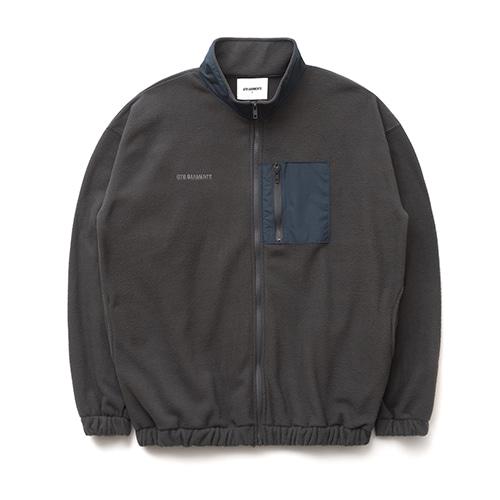 KP Fleece High Neck Jacket (Grey)