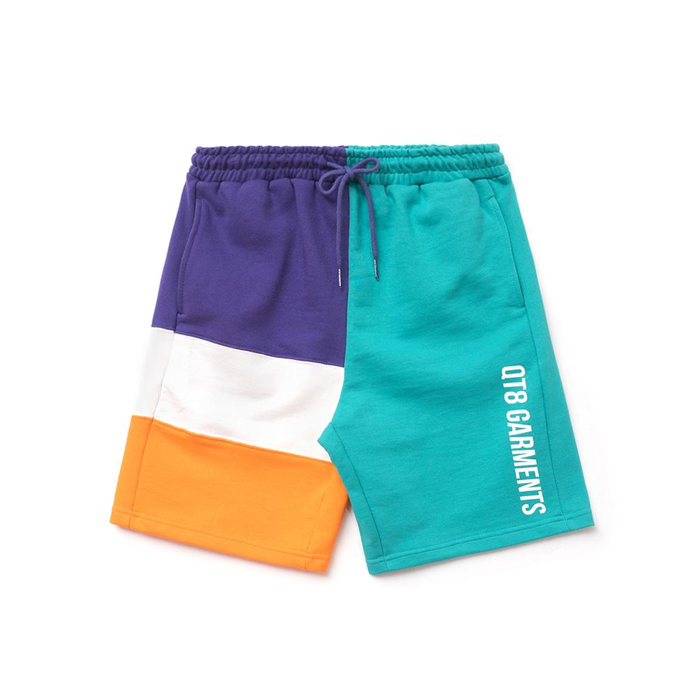 KP Color Block Sweat Short (Orange)