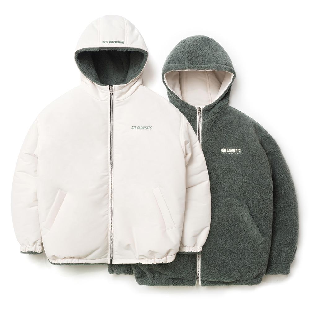 IG Fleece Reversible Hood Padding (Ivory)