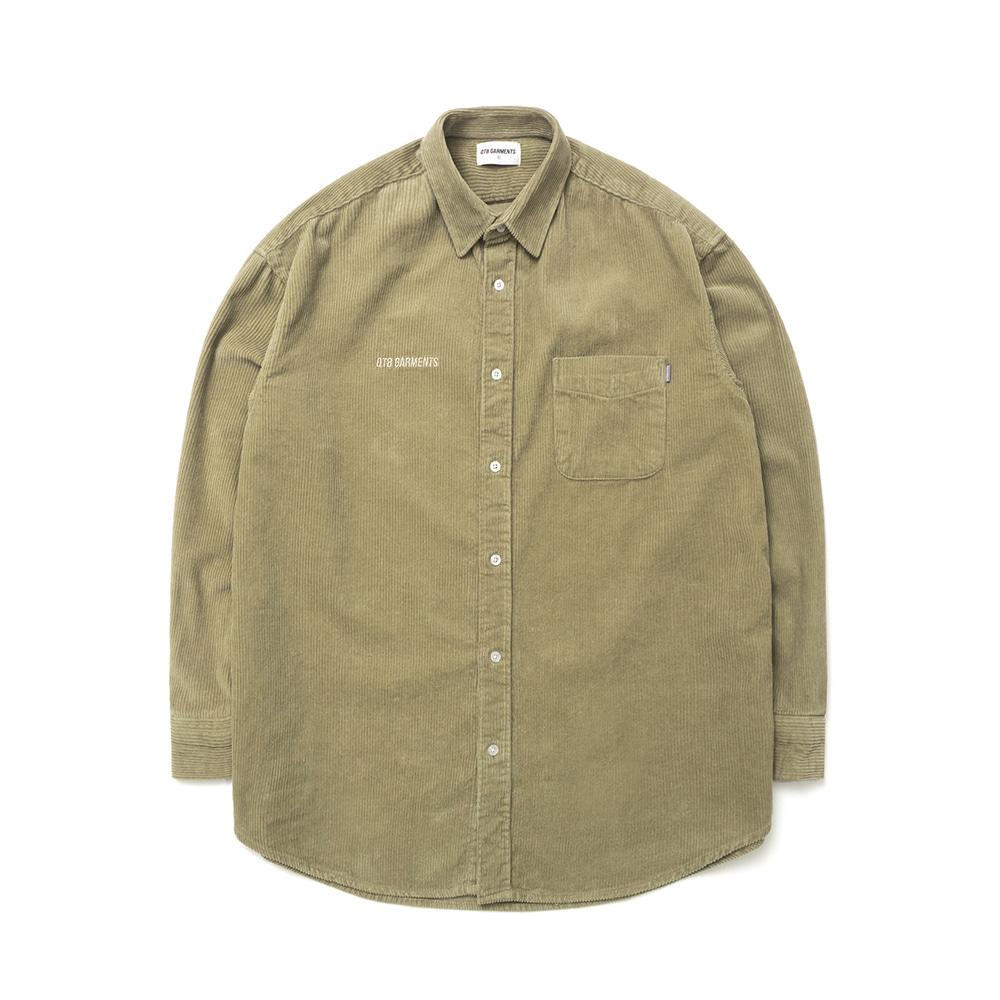 [하트시그널 정의동 셔츠]MR Corduroy Oversize Shirt (Khaki)