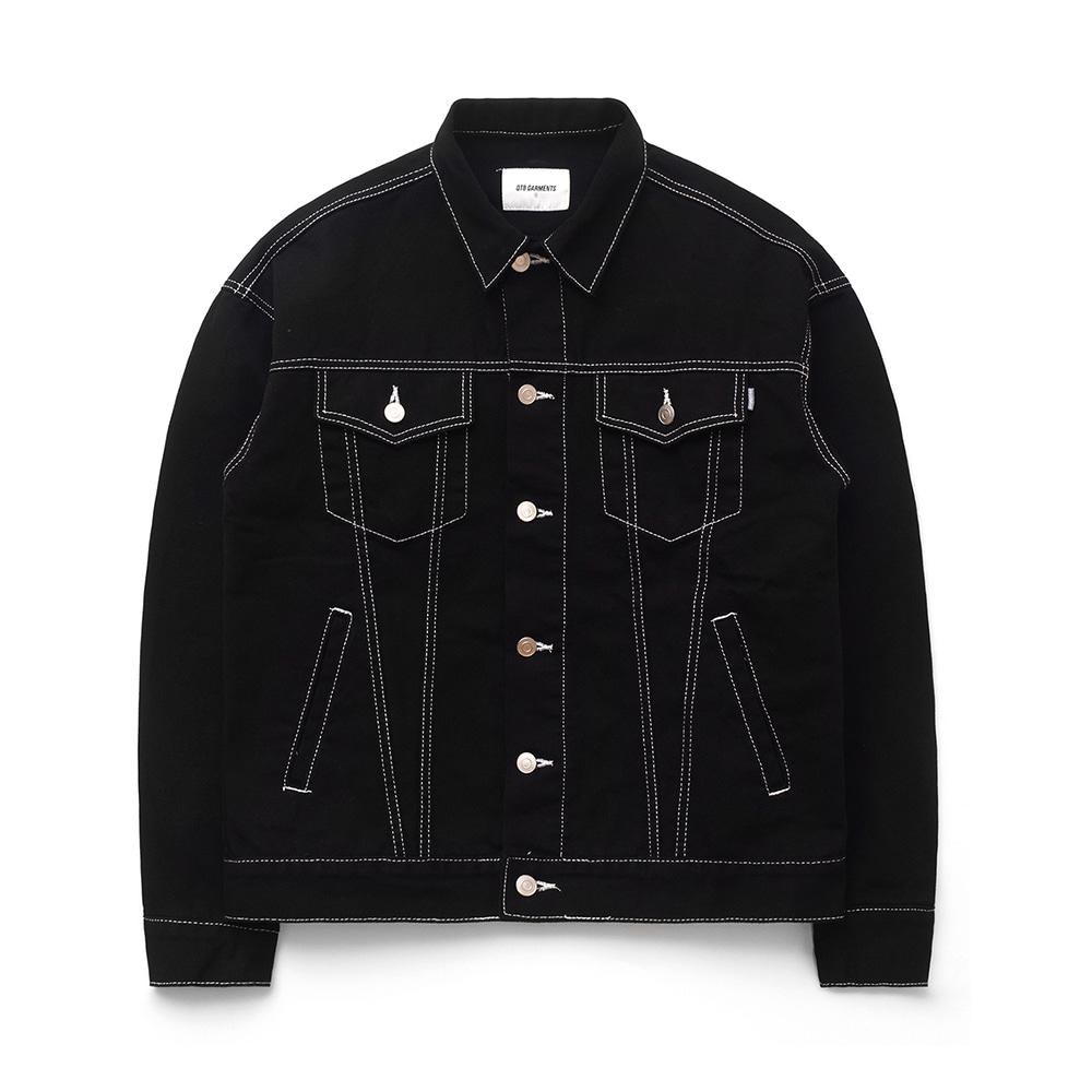 ND Cotton Oversize Stitch Trucker JK (Black)