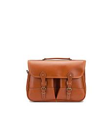Clipper Leather Satchel Tan Miret