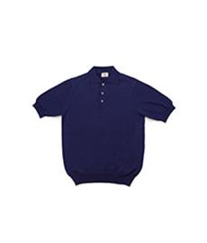 Cotton Pullover Sportshirt S/S Dark Blue