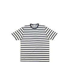 Short Sleeve T-Shirt Ecru/Navy Breton Stripe