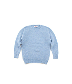 Shaggy Dog Crew Neck Sweater Ice Sea