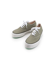 Deck Shoes Low White Sole Sage