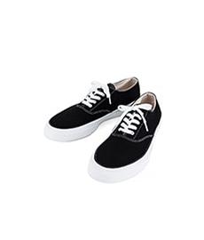 Deck Shoes Low White Sole Black