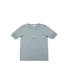 207 Henley S.Sleeve Lead Grey