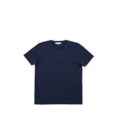 215P Classic Crew Neck Pocket T-Shirt Ink Blue