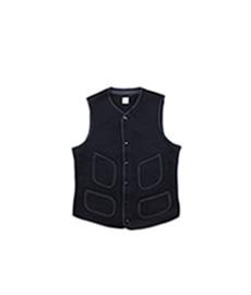 BB Cloth Vest D.Navy