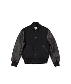 Contemporary Fit Varsity Shawl Collar Black/Black