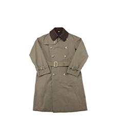 AL II Gabardine Green/Chevron Tweed Brown Collar