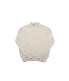 Dylan Cashmere Mix Polo Shirt Natural/Natural