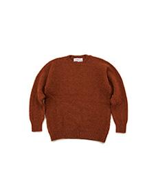 Shaggy Dog Crew Neck Sweater Rust