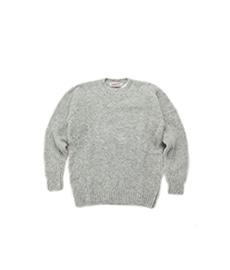 Shaggy Dog Crew Neck Sweater Silver