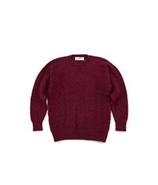 Shaggy Dog Crew Neck Sweater Bordeaux Mix