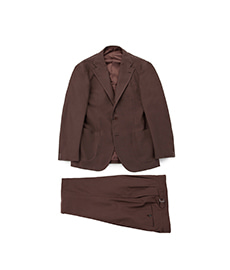 Cotton/Wool Suit Brown