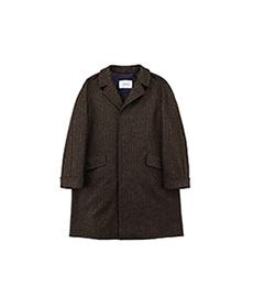 Corb Tweed Jersey Chevron Brown