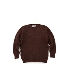 Shaggy Dog Crew Neck Sweater Coffee