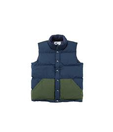 Italian Vest Crazy Style Navy/Olive Pocket
