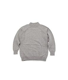 Mock Neck Sweater Grey Mix