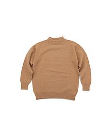 Mock Neck Sweater Camel Mix